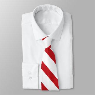 Laço carmesim branco e fino da listra da gravata