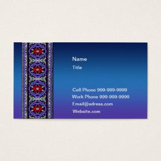 Laço celta azul escuro cartão de visitas