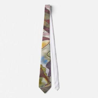 Laço coletivo da aguarela da consciência gravata