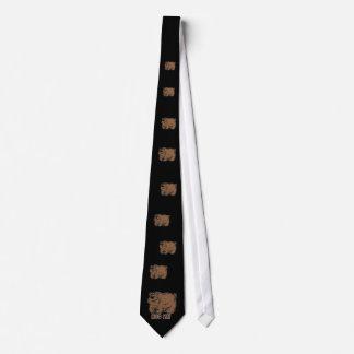 Laço do dia dos pais com enorme mim urso bonito do gravata
