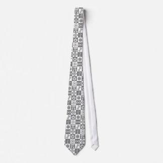 Laço dos símbolos do geek gravata