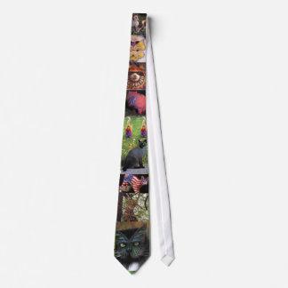 Laço pintado dos gatos gravata