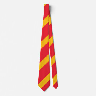 Laço regimental da listra do cardeal e do ouro gravata
