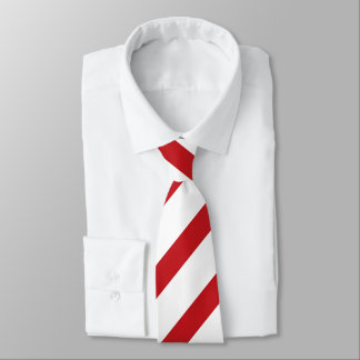 Laço regimental fino branco e carmesim da listra gravata