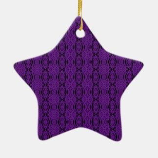 Laço roxo ornamento de cerâmica