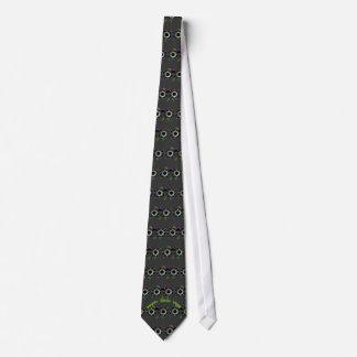 Laço telhado do geek ano feliz gravata