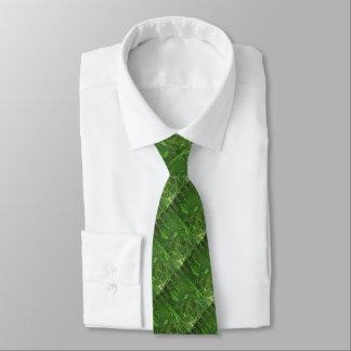 LAÇO UM no laço do verde do cartão-matriz Gravata