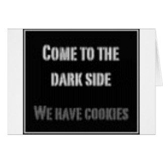 Lado escuro cartão comemorativo