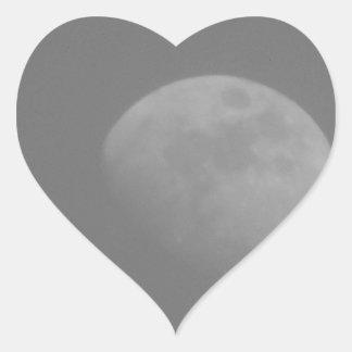 Lado escuro da lua adesivo coração