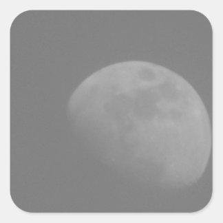 Lado escuro da lua adesivo quadrado