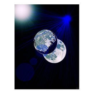 Lado escuro da lua cartão postal