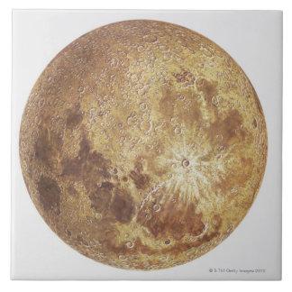 Lado escuro da lua, ilustração azulejo quadrado grande