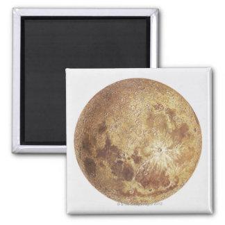 Lado escuro da lua, ilustração ímã quadrado