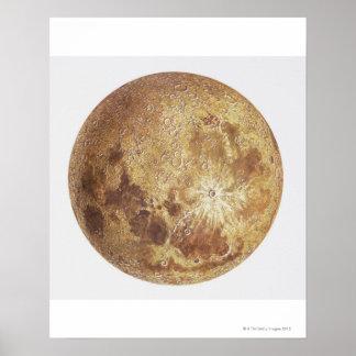 Lado escuro da lua, ilustração poster