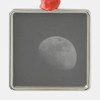 Lado escuro da lua ornamento quadrado cor prata