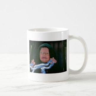 Lado escuro do bebê caneca