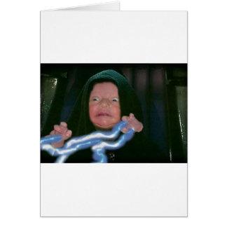 Lado escuro do bebê cartão comemorativo