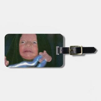 Lado escuro do bebê etiquetas de bagagens