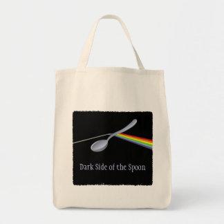 Lado escuro engraçado da colher bolsa tote