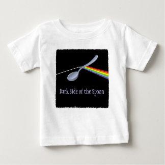 Lado escuro engraçado do T da criança da colher Camisetas