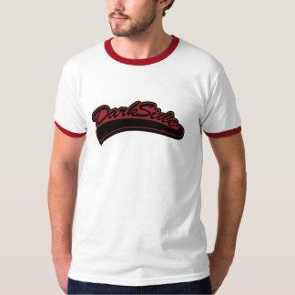 Lado escuro - vermelho & preto tshirt