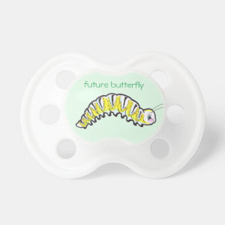 lagarta bonito da borboleta de monarca chupeta para bebê