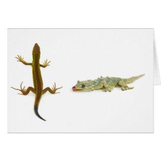 lagarto cartão comemorativo