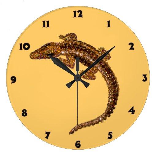 Lagartos Relógio Para Parede