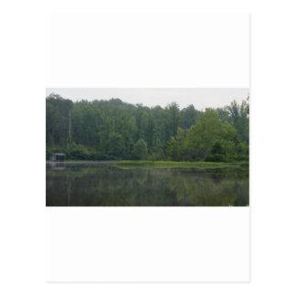 Lago apalaches foothills cartão postal