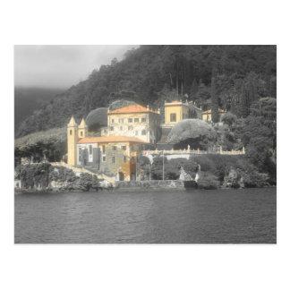 Lago Como Balbianello da casa de campo Cartão Postal