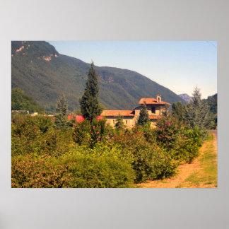Lago Como casa de campo nas colinas Posters