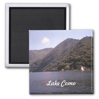 Lago Como crossing Ímã Quadrado