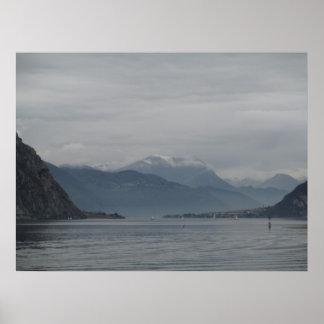 Lago Como e suas montanhas Posteres