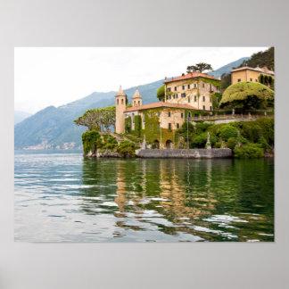 Lago Como em Italia Poster