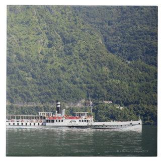 Lago Como, ferryboat Azulejo Quadrado Grande