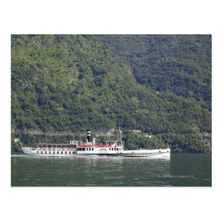 Lago Como, ferryboat Cartão Postal