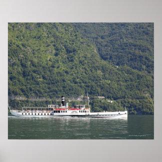 Lago Como, ferryboat Posteres