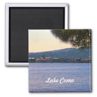 Lago Como Ímã Quadrado