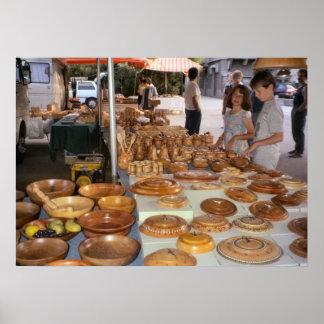 Lago Como mercado do artesanato Poster