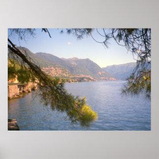 Lago Como opinião do lago Posteres