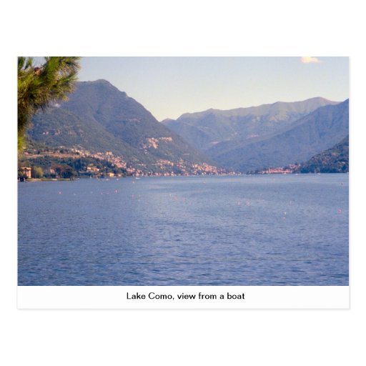 Lago Como, vista de um barco Cartão Postal