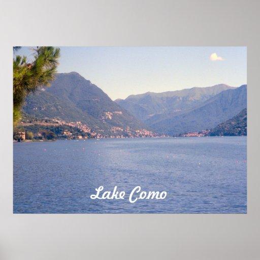 Lago Como, vista do lago Poster