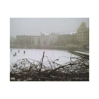 Lago congelado Berlim photography das belas artes Impressão Em Tela