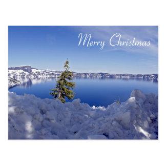 Lago crater no inverno - Feliz Natal Cartão Postal