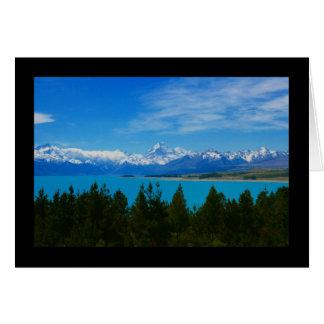 lago de Nova Zelândia Cartão