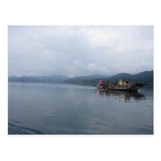 lago do barco cartão postal