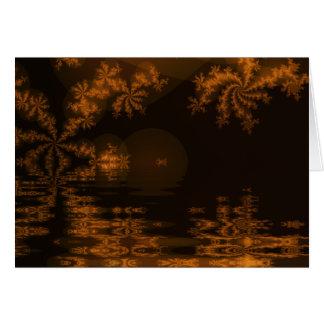 Lago festivo cartão
