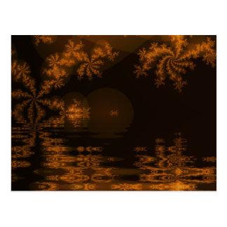 Lago festivo cartão postal