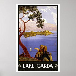 Lago Garda Italia vintage Travel Poster