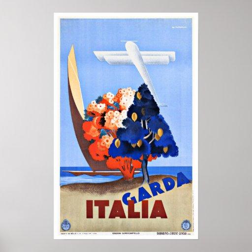 Lago Garda Italia vintage Travel Posteres